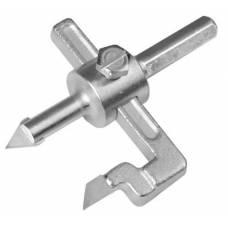 Сверло по керамике Ø 30-100 мм регулируемое (Балеринка) 1-о лапк., Sigma